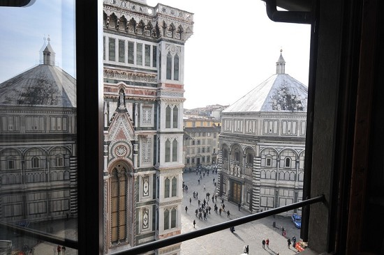 St. John's Baptistery view from the window