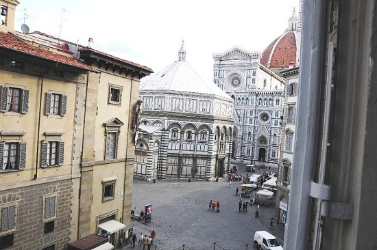 St. John's Baptistery, Cathedral and Giotto bell tower from the window