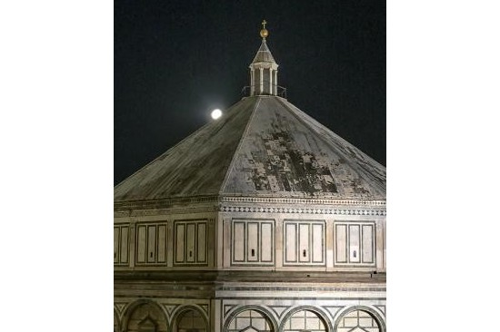 The Baptistery at night