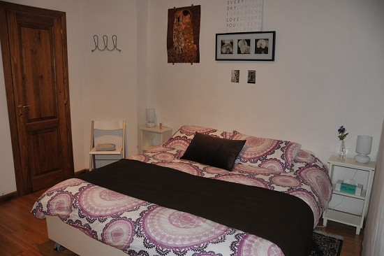 the bedroom, double bed